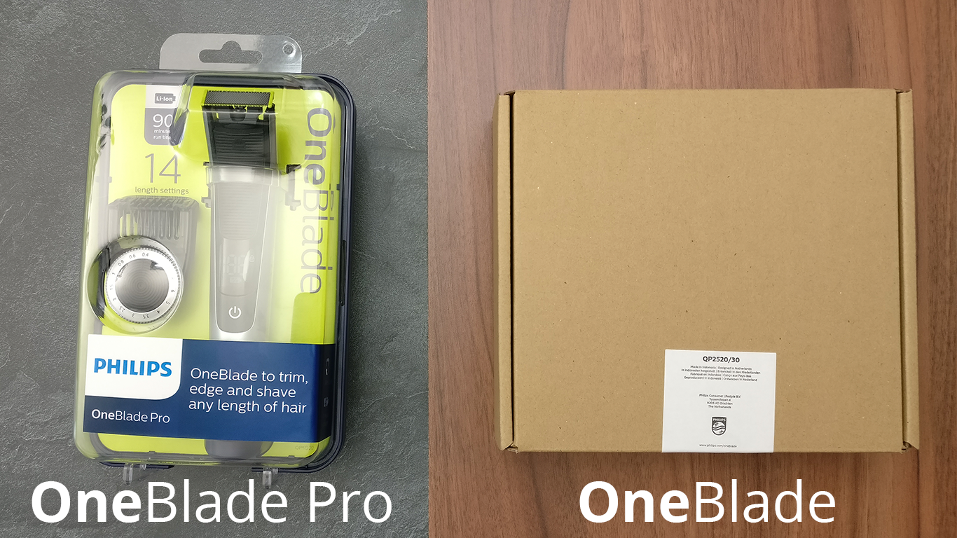 Philips OneBlade vs. Philips-OneBlade Pro
